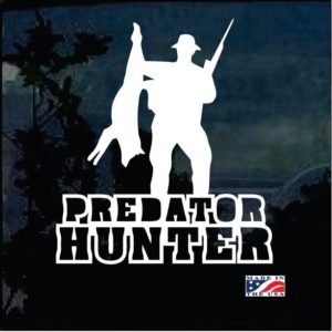 Coyote Hunter Predator Decal Sticker