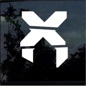 Excision x logo Window Decal Sticker