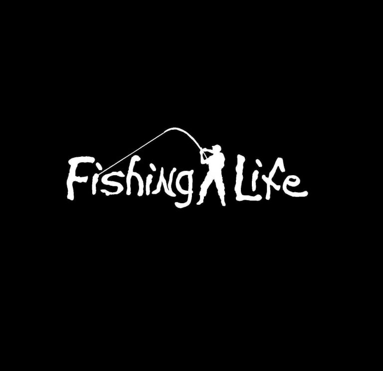 Fishing Life Vinyl Decal Stickers a1