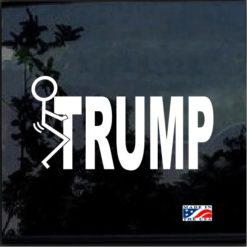 Fuck Donald trump decal sticker