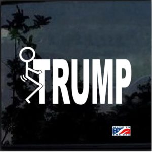 Fuck Donald trump decal sticker