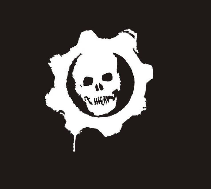 gears of war logo black and white wwwpixsharkcom