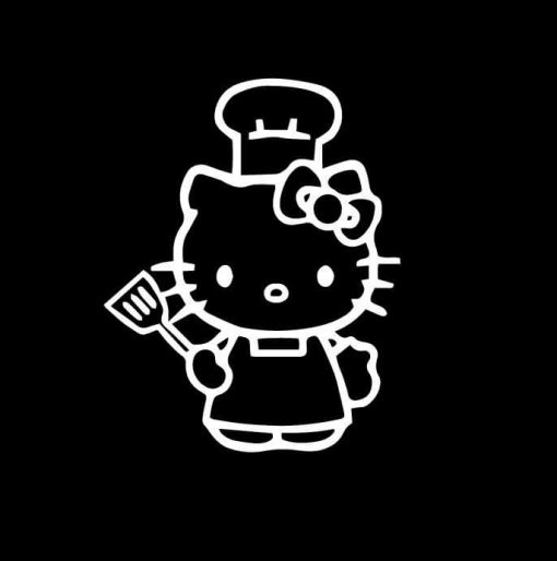 Hello Kitty Chef Vinyl Decal Stickers