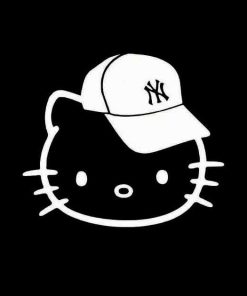 Hello Kitty New York Yankees Vinyl Decal Stickers