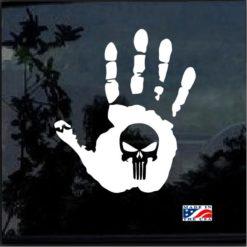 Jeep hand wave punisher 11 window decal sticker