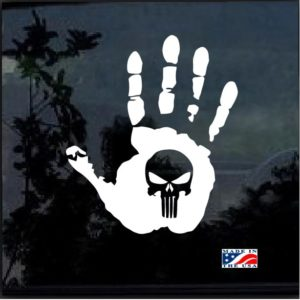 Jeep hand wave punisher 11 window decal sticker