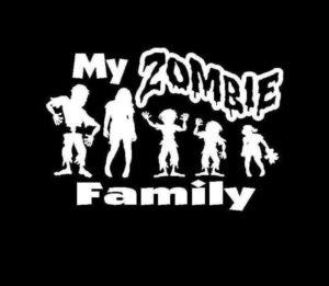 My Zombie Family Decal Sticker