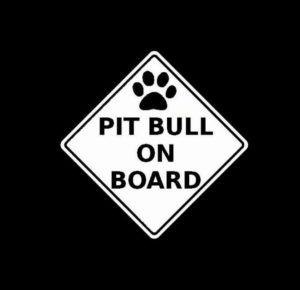 Pitbull Pit Bull on board Diamond Vinyl Decal Stickers
