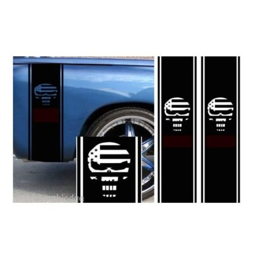 Punisher Bedside Graphic Decal Sticker Set