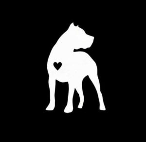 Pitbull Pit Bull Heart Vinyl Decal Stickers
