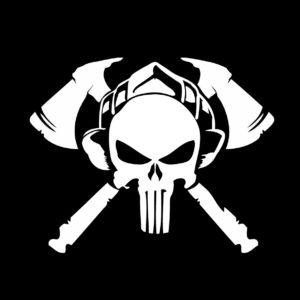 Punisher firefighter decal sticker 3