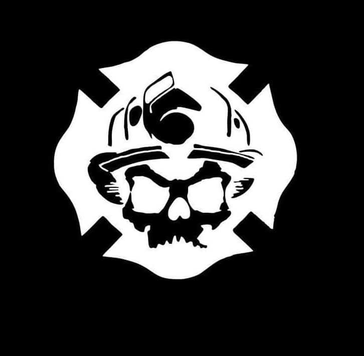 firefighter stickers fireman crest skull decal custom sticker shop