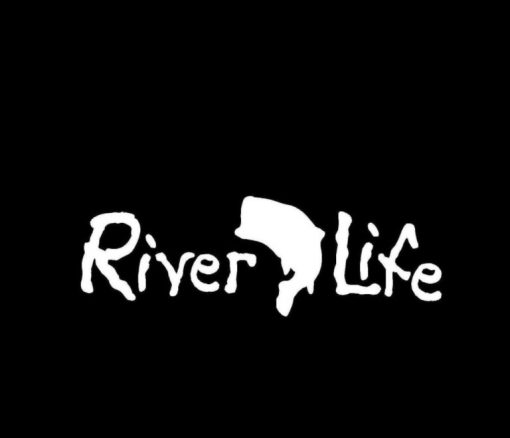 River Life Bass Vinyl Decal Stickers