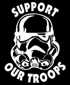 Star Wars Storm Trooper Support Our Troops Decal Stickers