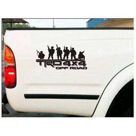 Toyota TRD Off Road Bedside Soldier Decal Sticker set