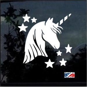 Unicorn and stars decal sticker