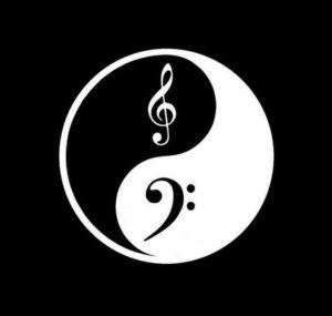 Ying Yang Treble Clef Music Vinyl Decal Stickers