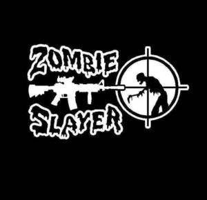Zombie Slayer Vinyl Decal Sticker