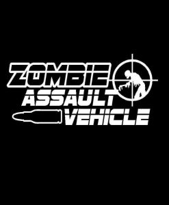 Zombie Assault Vehicle Vinyl Decal Sticker
