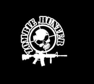 Zombie Hunter II Vinyl Decal Sticker