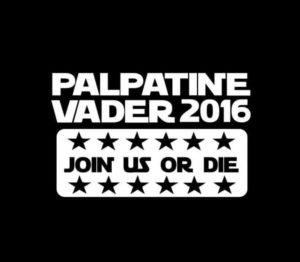 Palpatine Vaser 2016 Star Wars Vinyl Decal Sticker