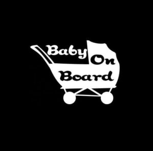 Baby on board stroller Vinyl Decal Stickers