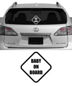 Baby On Board Diamond Vinyl Decal Sticker
