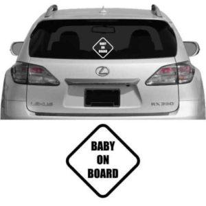Baby On Board Diamond Vinyl Decal Sticker