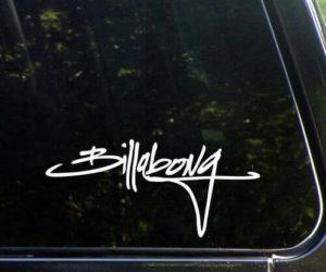 Billabong script Vinyl Decal Sticker