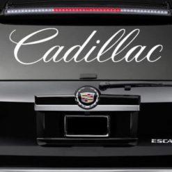 Rear Window Decal Sticker Fits Cadillac
