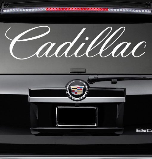 Rear window decal sticker fits cadillac