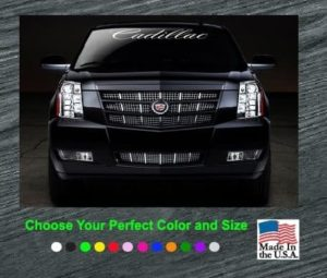 cadillac windshield banner decal sticker