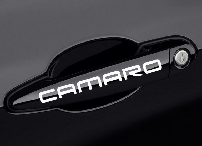 Chevy Camaro Car Door Handle Decal Stickers Set of 2