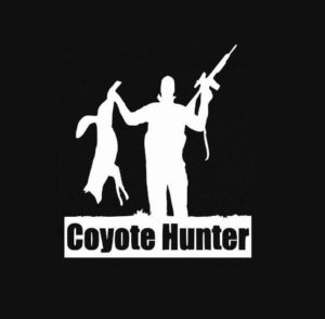 Coyote Hunter Vinyl Decal Stickers