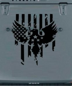 Eagle stars and Stripes Hood Decal Sticker