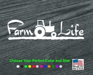 farm life decal sticker