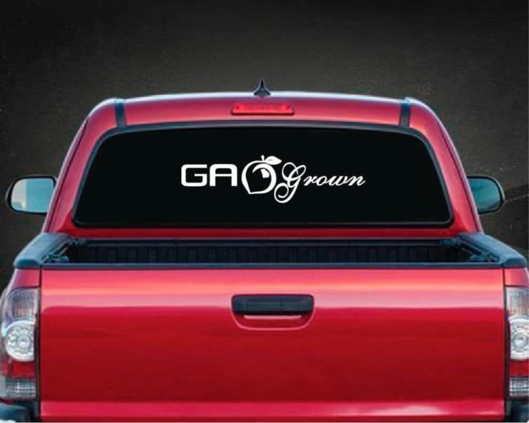 Georgia grown rear decal sticker custom sticker shop Getting stickers off glass