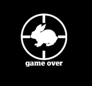Game Over Rabbit Hunter Vinyl Decal Sticker