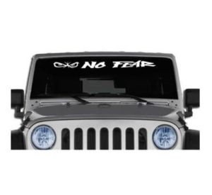 jeep no fear eyes windshield banner decal sticker