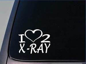 X-Ray Tech Technician Love 2 x-ray Vinyl Decal Stickers