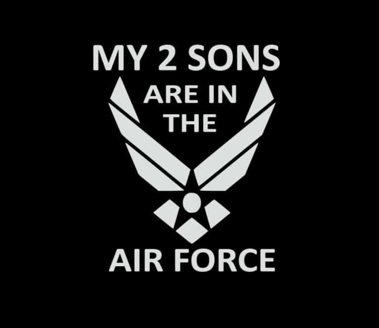 My Son is in The Navy with Logo 4x4 Decal