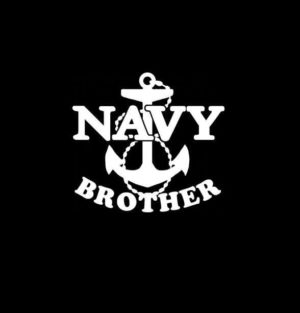 Navy Brother Anchor Vinyl Decal Sticker