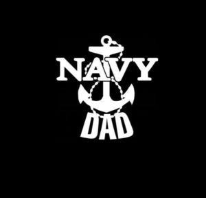Navy Dad Anchor Vinyl Decal Sticker