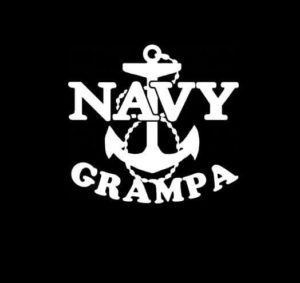 Navy Grampa Anchor Vinyl Decal Sticker