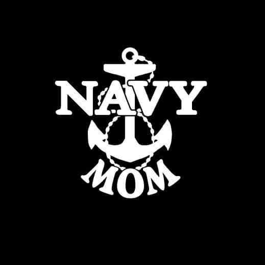 Navy Mom Anchor Vinyl Decal Sticker
