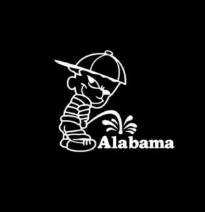 Calvin Piss Alabama Crimson Tide Vinyl Decal Stickers