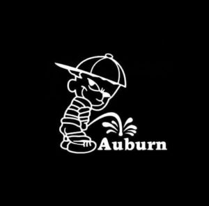 Calvin Piss on Auburn Vinyl Decal Stickers
