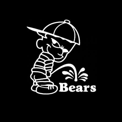 Calvin piss on chicago bears vinyl decal stickers