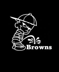 Calvin Piss on Cleveland Browns Vinyl Decal Stickers