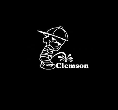 Calvin Piss on Clemson Tigers Vinyl Decal Stickers